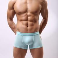 2014 new sexy cozy Boxer Shorts men's underwear fashion brand bulge enhancing breathable High-grade good quality