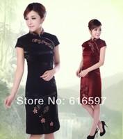 HOT SALE NEW Fashion Cotton Embroider Mini Women Cheongsam That Restore Ancient Ways Skirt Summer Classical Dress Free shipping