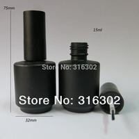 Free Shipping- 20/lot 15ml Black Empty Nail polish Bottle, 15cc Black nail enamel bottle