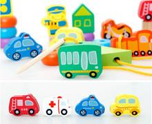 New Arrivel Baby Toys Wooden Vehicle/Digital/Letter/Garden String Beads Educational Wooden Toys Fruit Blocks Child Gift(China (Mainland))