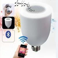 Free By DHL 1pcs mini Remote control Hifi Bluetooth Speaker LED Bulb 8-15W Adjustable Bright LED Lamp