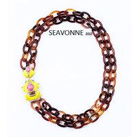 Freeshopping 2014 shourouk new Yellow frog personality Necklace women fashion statement  short Necklace  N