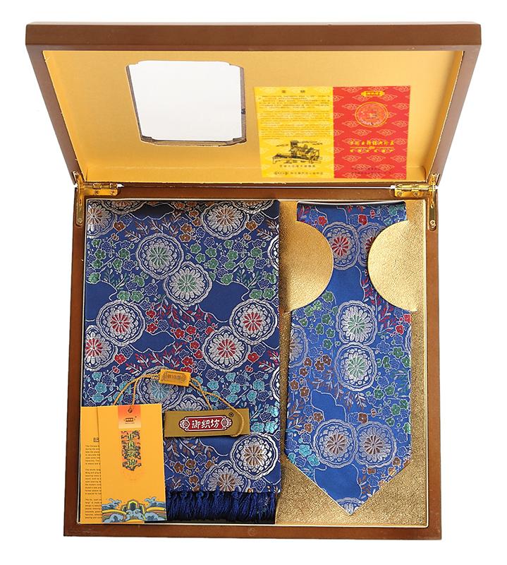 Brocade brocade scarf quality wooden box small gift brocade gift box(China (Mainland))