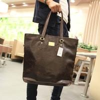 handbag bag men Crazy horse leather  men travel bags men  handbag   vintage shoulder  laptop  bags handbags