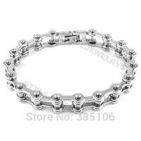 Free shipping! Bicycle Motorcycle Chain Bracelet Stainless Steel Jewelry Fashion Silver Motor Biker Bracelet SJB0210
