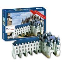 DIY France Famous Building 3D Puzzle Toys Colorful Print Chateau de Chenonceau Jigsaw 116 Pc's Set