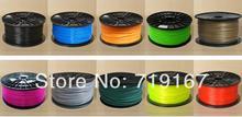 wholesale multicolor Makerbot/reprap/mendel/UP 3D printer PLA1.75mm 1kg(2.2lb) filaments 10pcs DHL/FEDEX free shippment