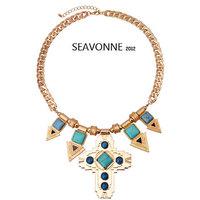 New Fashion 2014 European style Cross arrow necklace women fashion statemen