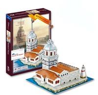 DIY Turkey Famous Building 3D Puzzle Toys Colorful Print KIZ Kulesi Maiden's Tower Or Leander's TowerJigsaw 45 Pc's Set