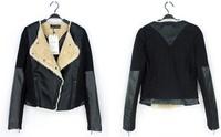 sally she DOO-30 Autumn jacket Slim PU leather jacket women ladies faux leather motorcycle models black brand same style slim