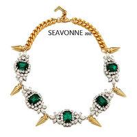 New Fashion 2014 European style crystal Rivet necklace women fashion statemen