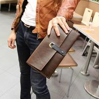handbag bag men Crazy horse leather Vintage   clutch  men's day clutch     bags handbags