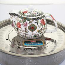 Ceramic tea kettle belt colander teapot kung fu teapot flower pot green tea pot qingcha teapot Stainless steel filter 250ml(China (Mainland))