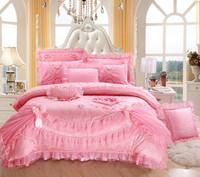 European romantic wedding bedding set king size elegant comforter set queen embroidered bed set bed cover