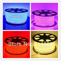 Super bright 10M/Roll+Plug 5050 LED strip 220V high voltage warm white,white,rgb 5050 Tube Waterproof flexible SMD led strip
