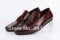 New Mens Casual Leather Slip On Loafers Driving Moccasins Dress Shoes Sneakers Eur size 37 to 44 Retail/wholesale Free shipping