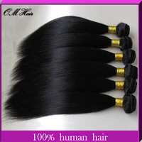 OM Hair: Unprocessed Virgin Malaysian Hair Weave Bundles Cheapest Straight Hair Extensions Rosa Hair Products #1b Free Shipping
