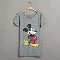 NEW Arrival Mickey Mouse T Shirt Women Cotton T-shirt Short Sleeve Printed T-shirts LT18