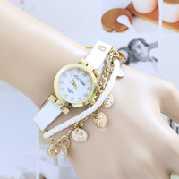 (Min order $15,can mix) Free Shipping Hot Sale Exaggerated Chain Leather watches for  Women Cute Quartz Wristwatches.J74