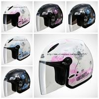 SOL-0186,Women Only,Flying Dandelion Series,Super Light,Safe,Open Face Helmet,3/4 Cover,Motorcycle,CoolMax Lining,DOT Test