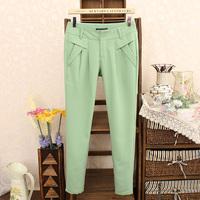 2014 Spring Summer OL Tencel Casual Loose Pants Plus Size Suit Trousers Harem Pants Women Pure Color Slim Thin Trousers