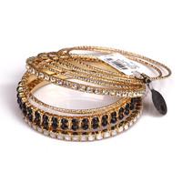 Fashion fashion accessories bracelet elegant black gem rhinestone gold fashion bracelet female