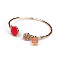 Fashion fashion accessories bangles rhinestone gem all-match fashion hand ring bracelet female