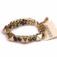 Fashion fashion accessories trend gold rivet all-match fashion chiffon chain bracelet female male