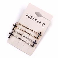Fashion fashion hair pin accessories cross caiyou hairpin clip hair accessory female