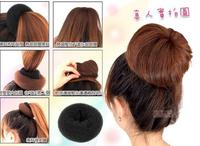 8cm Retail Hair Volumizing Scrunchie Donut Ring Style Bun Scrunchy Sock Poof Bump Hair Accessaries factory direct price