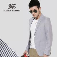 Fashion modern civies single line patch pocket terylene spring slim long-sleeve suit