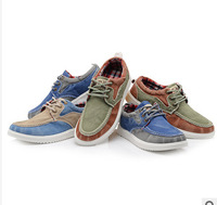 Free Shipping 2014 new 3 Colors Low Style Canvas Shoes For Men White Rubber Sole Lace-Up Flat Sneakers Breathable Sneakers