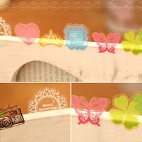 6 pcs/pack Korea stationery 2013 vintage fresh transparent pvc decoration sticker diy sticker