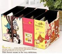 6 pcs/pack Diy pen holder folding storage box finishing box high quality circus relaxed bear storage box