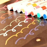 6 pcs/pack Paint pen paint pen white diy photo album gold marker pen black card paint pen