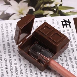 1 PCS Korea Stationery Chocolate Style Pencil Sharpener With Eraser(China (Mainland))