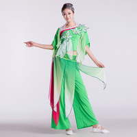 Jasmine dance clothes dance fan younger service costume