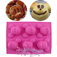 Food Grade silicone Mold Mickey Mouse Pudding Jelly Chocolate Cupcake Mould Fondant Cake Decor Tool Cooking Tools Bakeware