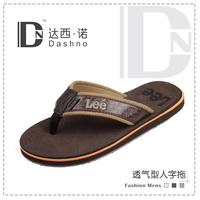Summer  2015 male slippers flip flops Brand Flip Flops Slip-resistant Vintage Men Sandals Slipper Leisure soft beach sandals