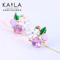 Kaila florid tenderness of the stud earring female fashion crystal earring earrings new arrival sweet
