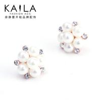 Kaila memory stud earring female fashion pearl earrings elegant anti-allergic earring new arrival