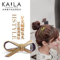 Starlight kaila bow hairpin fashion diamond hair accessory sweet