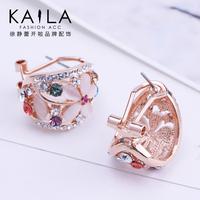 Kaila stud earring female sweet earrings earring diamond flower accessories new arrival