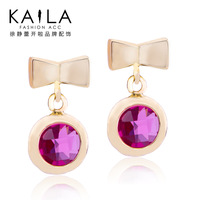 Kaila butterfly drop earring female long design fashion crystal earrings new arrival sweet personality
