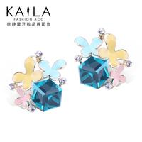 Kaila florid stud earring female fashion earring earrings new arrival sweet