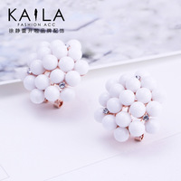 Kaila stud earring female fashion elegant earrings earring anti-allergic accessories new arrival