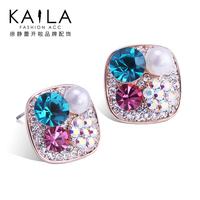 Kaila alice stud earring female diamond earrings new arrival sweet anti-allergic