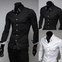 free shipping 2014 new fashion sale mens causal shirts top quality polo shirt for man  sizeM-XXXL