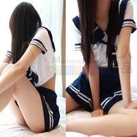Sex bows temptation sexy lingerie game uniforms school uniform sailor