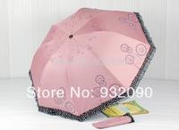 Sunny umbrella,Dandelion pattern three folding.sunscreen.Manual Umbrella7 colors random delivery